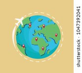 earth vector logo. travel logo. ...