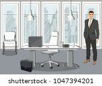 successful young business man... | Shutterstock .eps vector #1047394201