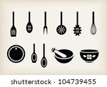 vector set of kitchen tools