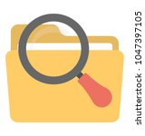 a file folder under magnifier... | Shutterstock .eps vector #1047397105