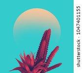 cactus duotone in vibrant bold... | Shutterstock . vector #1047401155