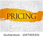 pricing word cloud collage ... | Shutterstock .eps vector #1047405331