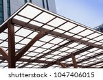 polycarbonate roofing use for...   Shutterstock . vector #1047406015