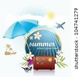summer background | Shutterstock .eps vector #104741279