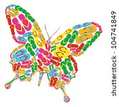 butterfly shape made with... | Shutterstock . vector #104741849