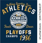 bulldog team college american... | Shutterstock .eps vector #1047426619