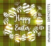 vector card with eggs. happy... | Shutterstock .eps vector #1047427771