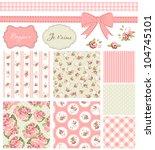 vintage rose pattern  frames... | Shutterstock .eps vector #104745101