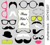 happy father's day background ... | Shutterstock .eps vector #104745107