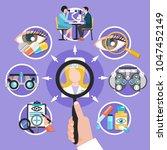 oculist symbols flat round... | Shutterstock .eps vector #1047452149
