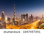 dubai  uae   february 2018 ... | Shutterstock . vector #1047457351
