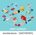 diabetes control isometric... | Shutterstock .eps vector #1047459391