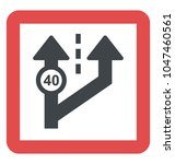 advisory speed sign ... | Shutterstock .eps vector #1047460561