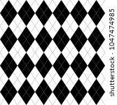 black and white argyle seamless ...   Shutterstock .eps vector #1047474985