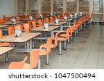 Stock photo the interior of cafeteria or canteen nobody 1047500494