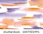 hand made watercolor wash... | Shutterstock . vector #1047501991