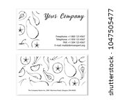 black and white business card... | Shutterstock .eps vector #1047505477