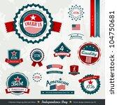 vintage label and tag set ... | Shutterstock .eps vector #104750681