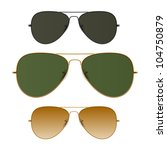 sunglasses. vector. just place... | Shutterstock .eps vector #104750879