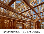 new construction of a house... | Shutterstock . vector #1047509587