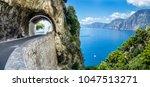 amalfi coast  mediterranean sea ... | Shutterstock . vector #1047513271