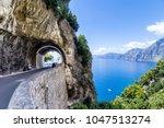 amalfi coast  mediterranean sea ... | Shutterstock . vector #1047513274