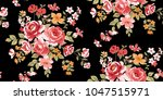 seamless floral pattern in... | Shutterstock .eps vector #1047515971