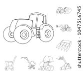 agricultural machinery outline... | Shutterstock .eps vector #1047516745