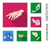 manipulation by hands flat... | Shutterstock .eps vector #1047517015