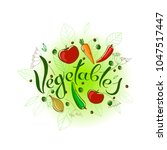 vector handwriting lettering... | Shutterstock .eps vector #1047517447