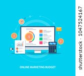 online marketing budget  ... | Shutterstock .eps vector #1047524167
