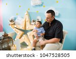hapiness and beatiful family | Shutterstock . vector #1047528505