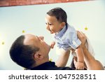 hapiness and beatiful family | Shutterstock . vector #1047528511