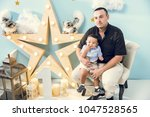 hapiness and beatiful family | Shutterstock . vector #1047528565