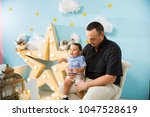hapiness and beatiful family | Shutterstock . vector #1047528619