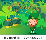 happy saint patrick's day...   Shutterstock .eps vector #1047531874