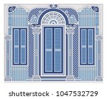 old house  old town | Shutterstock .eps vector #1047532729
