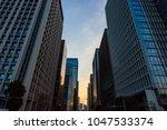 the sky at daybreak in tokyo | Shutterstock . vector #1047533374