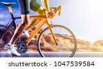 professional road bicycle racer ... | Shutterstock . vector #1047539584