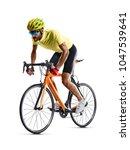 professinal road bicycle racer... | Shutterstock . vector #1047539641