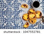egg tart  traditional... | Shutterstock . vector #1047552781