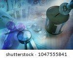digital currency exchange | Shutterstock . vector #1047555841