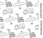 dotted shape truck and airplane ... | Shutterstock .eps vector #1047557959