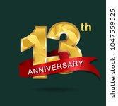 13th anniversary  aniversary  ... | Shutterstock .eps vector #1047559525