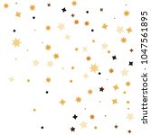 golden star confetti. fallen... | Shutterstock .eps vector #1047561895