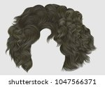 trendy woman curly hairs blond... | Shutterstock .eps vector #1047566371