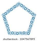 contour pentagon composition of ...   Shutterstock .eps vector #1047567895