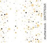 golden star confetti. fallen... | Shutterstock .eps vector #1047570265