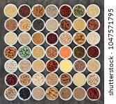 macrobiotic health food...   Shutterstock . vector #1047571795