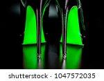 spiked stiletto high heel shoes.... | Shutterstock . vector #1047572035